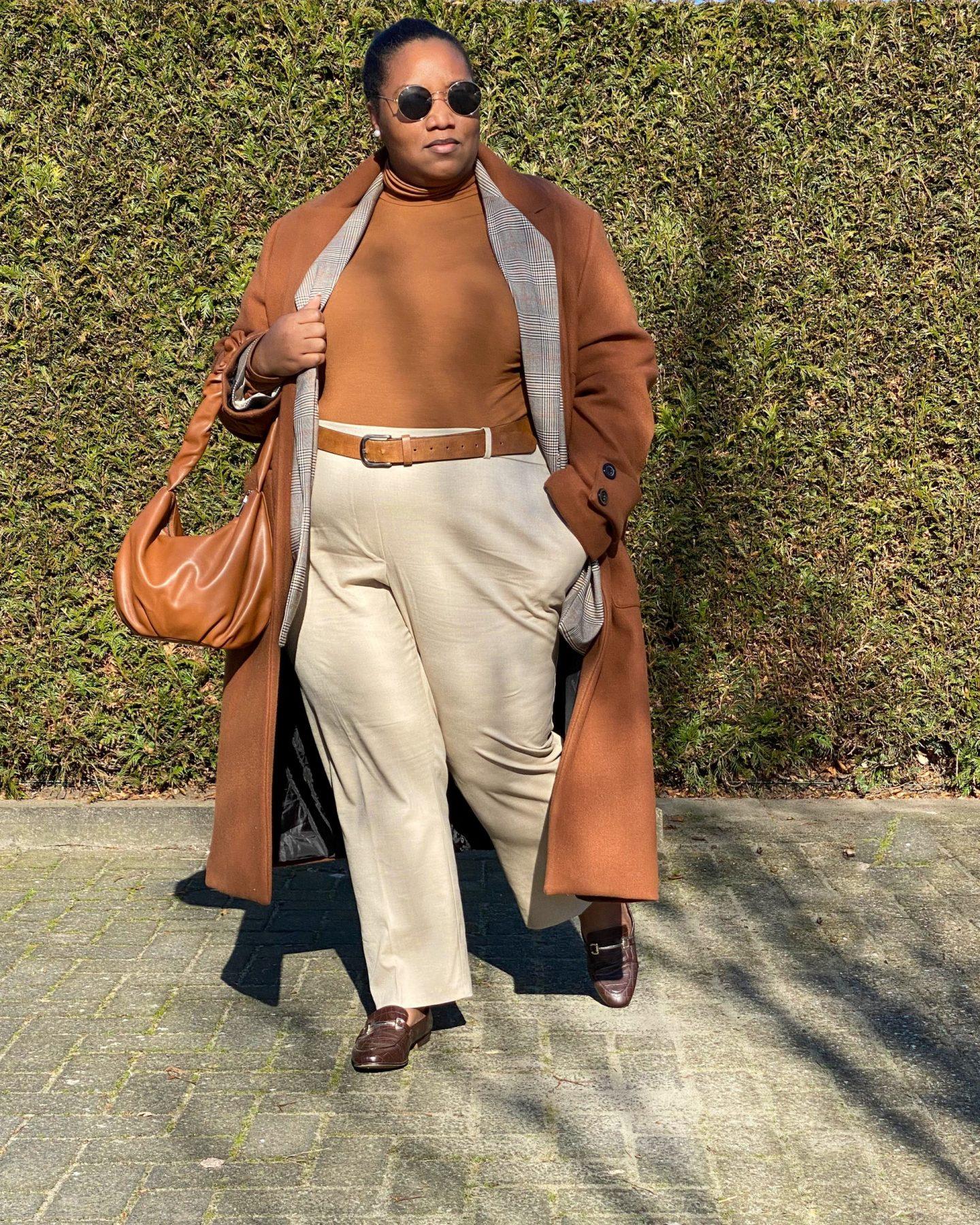 Aesthetic Outfit Combinatie  Bruin en Beige Tinten