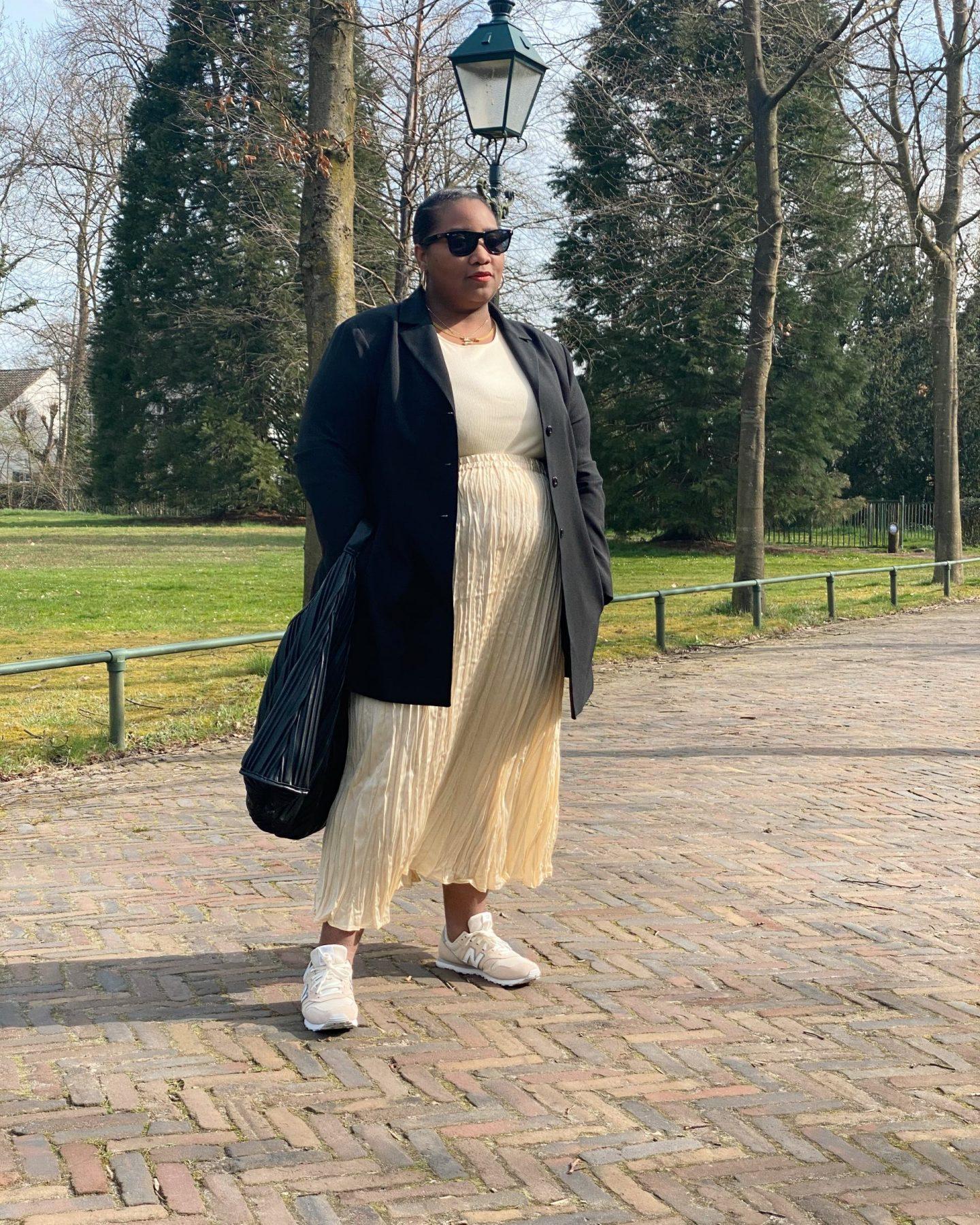 Vest Top & Crinkle Midi Skirt