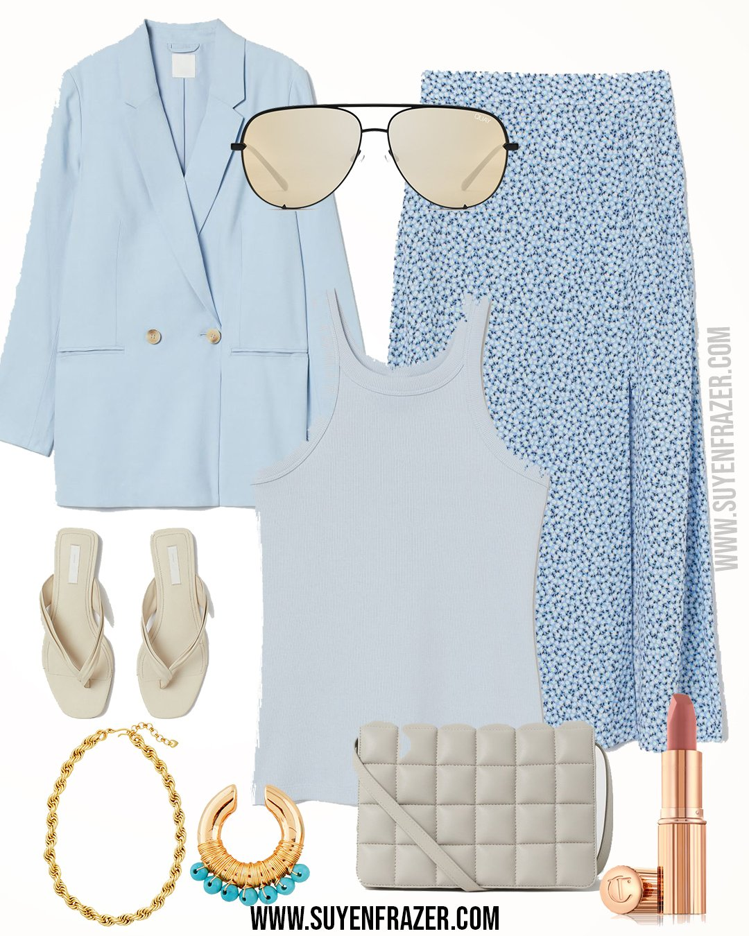Plus-size Light Blue Spring Outfit Inspiration