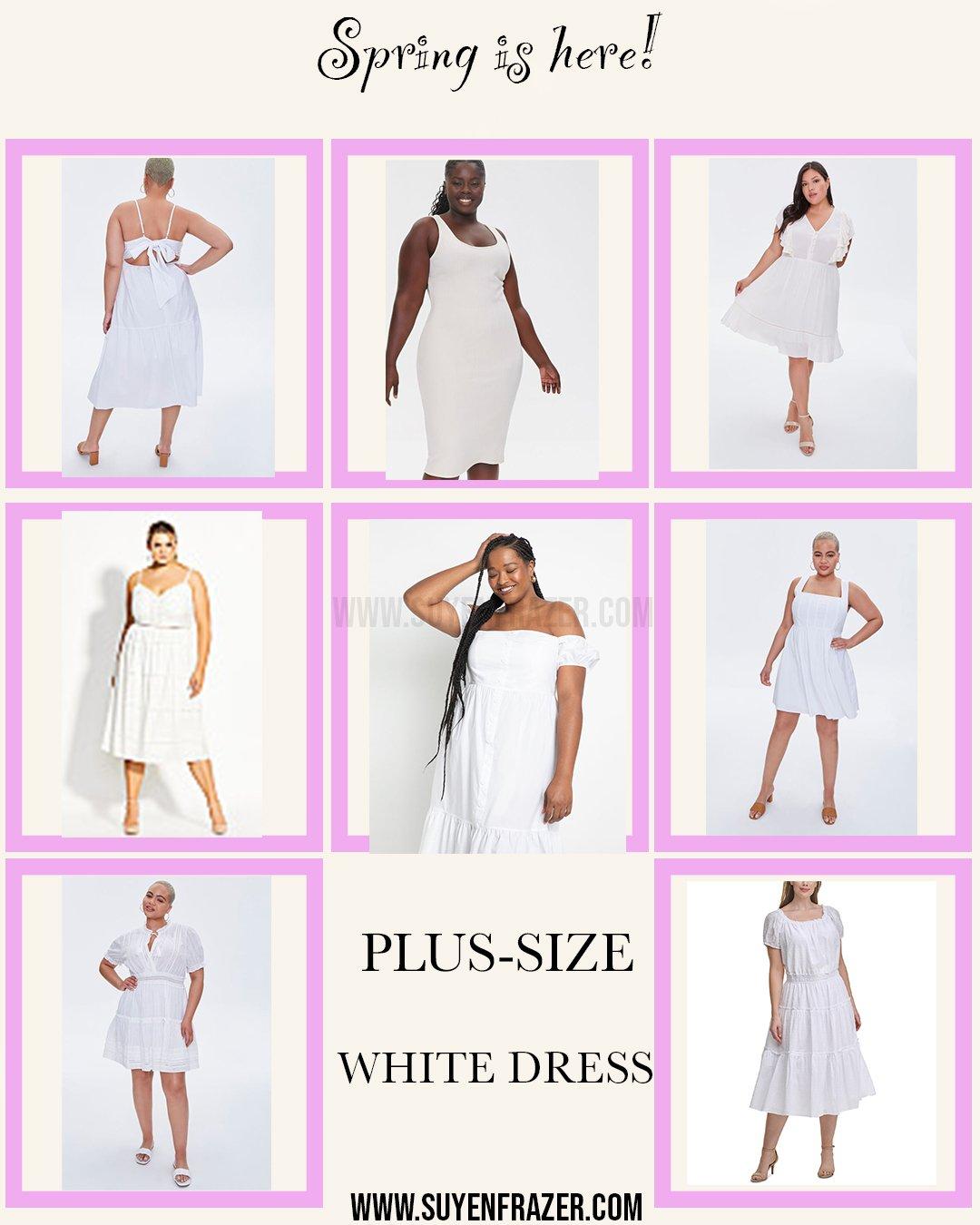 Plus Size White Dresses For Spring & Summer 2021