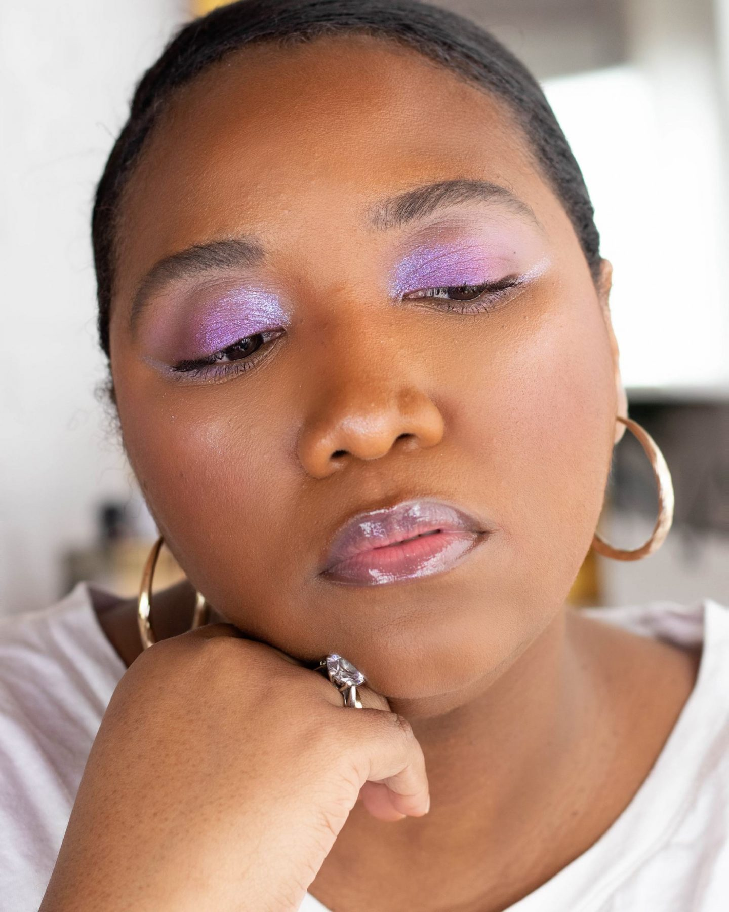 Purple Spring Makeup look And Trend For 2021